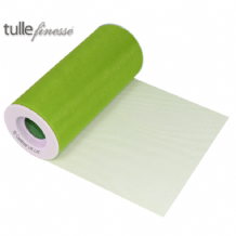 "Lime Green Tulle Ribbon 6"" x  25 yards (22.86m) 1pc"